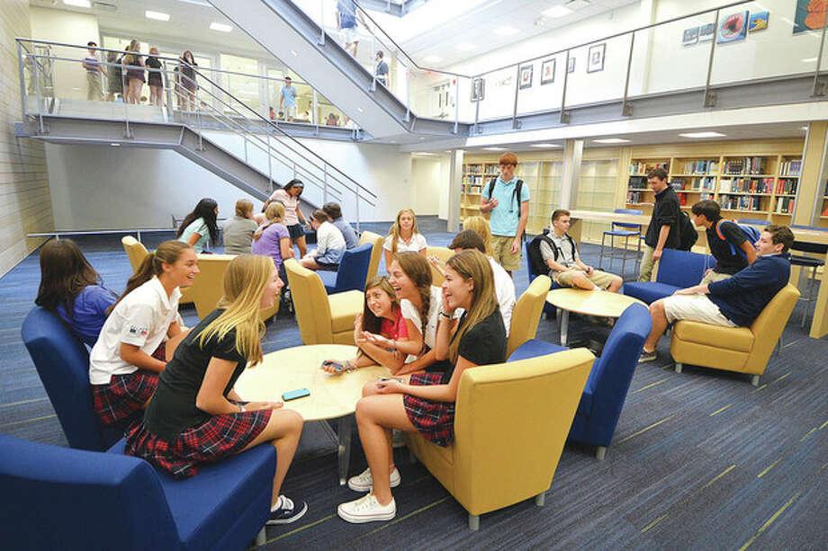Hour Photo/Alex von Kleydorff The King Low Heywood Thomas school's upper campus complex in Stamford