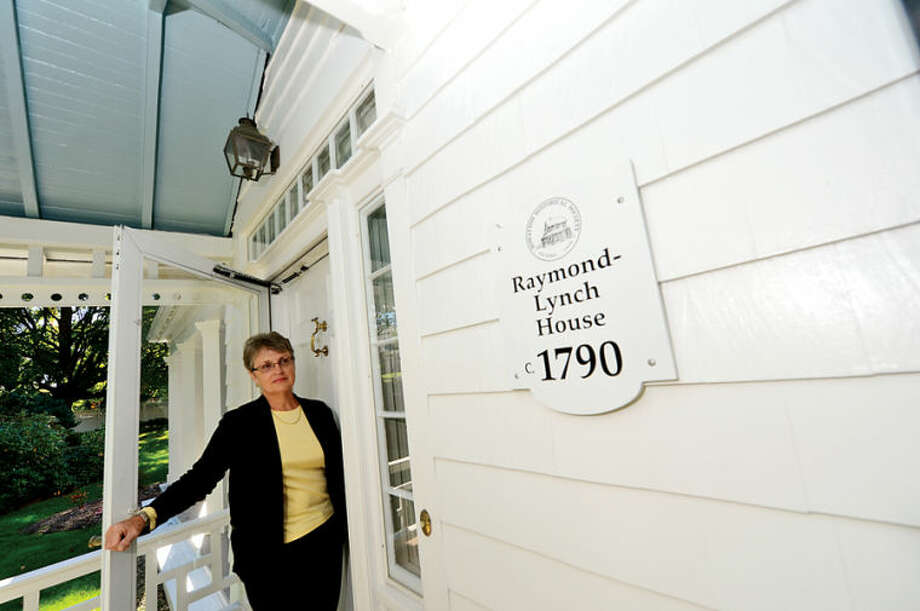 "Betsy Bain is ""a descendent of one of Norwalk's earliest settlers - Walter Haite, aka Walter Hoyt and also of the Betts family. Bain is the 6th generation of the family to reside in what they affectionately refer to as ""the old homestead"" at 78 Wilson Ave. in Rowayton. Hour photo / Erik Trautmann"
