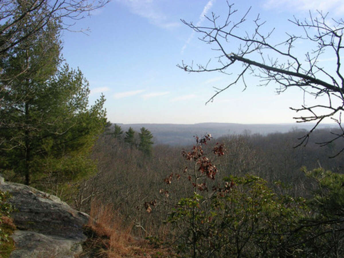 Photo by Rob McWilliams The view from Great Ledge in Devil's Den in Weston.