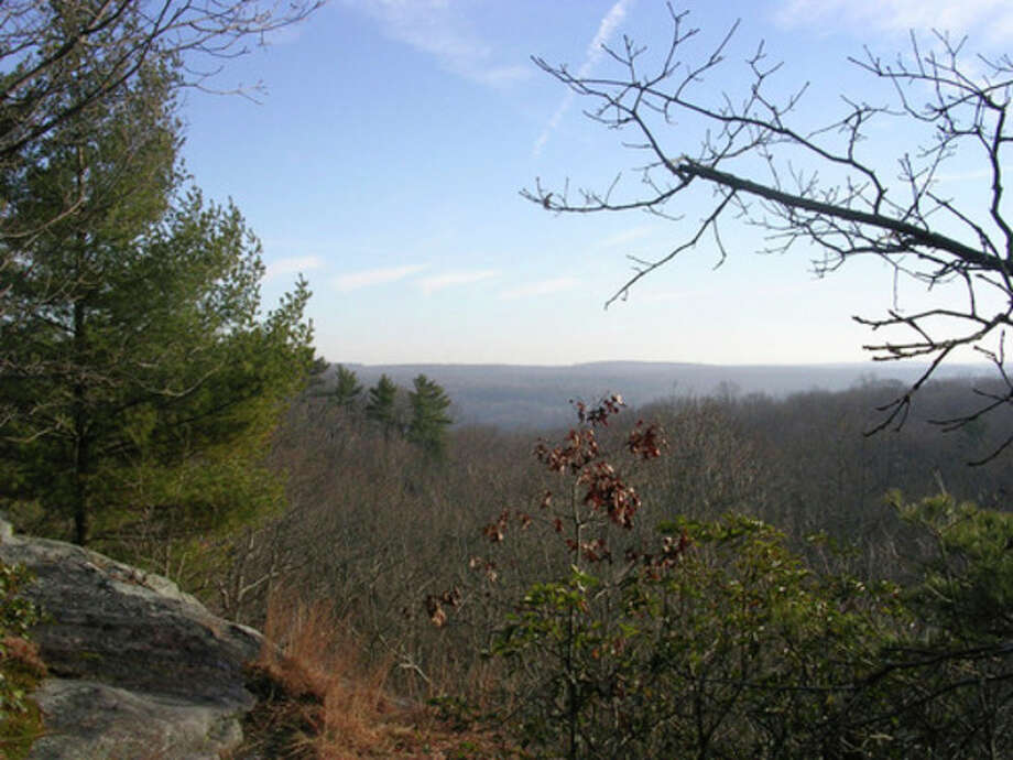 Photo by Rob McWilliamsThe view from Great Ledge in Devil's Den in Weston.