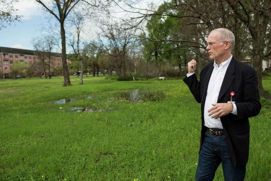 As chair of the Houston Housing Authority, Lance Gilliam pushed for public housing  in both high-poverty and low-poverty neighborhoods. In high-poverty neighborhoods, he argued, housing projects could be a stabilizing force. Here, in March 2016, he visited the site of a planned multi-family housing project along Fifth Ward's Lyons Avenue. Photo: Brett Coomer, Staff / © 2016 Houston Chronicle