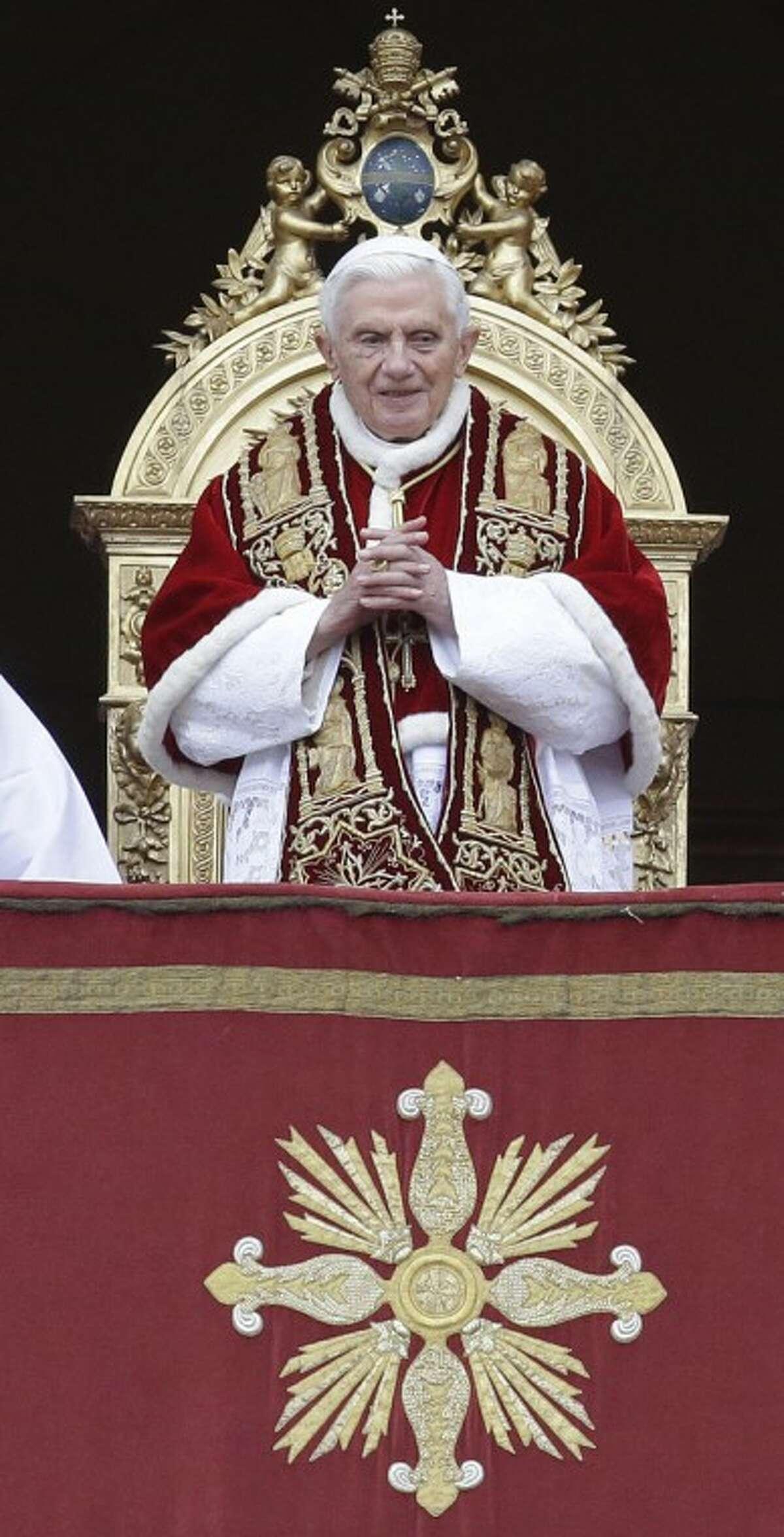 Pope Benedict XVI delivers his