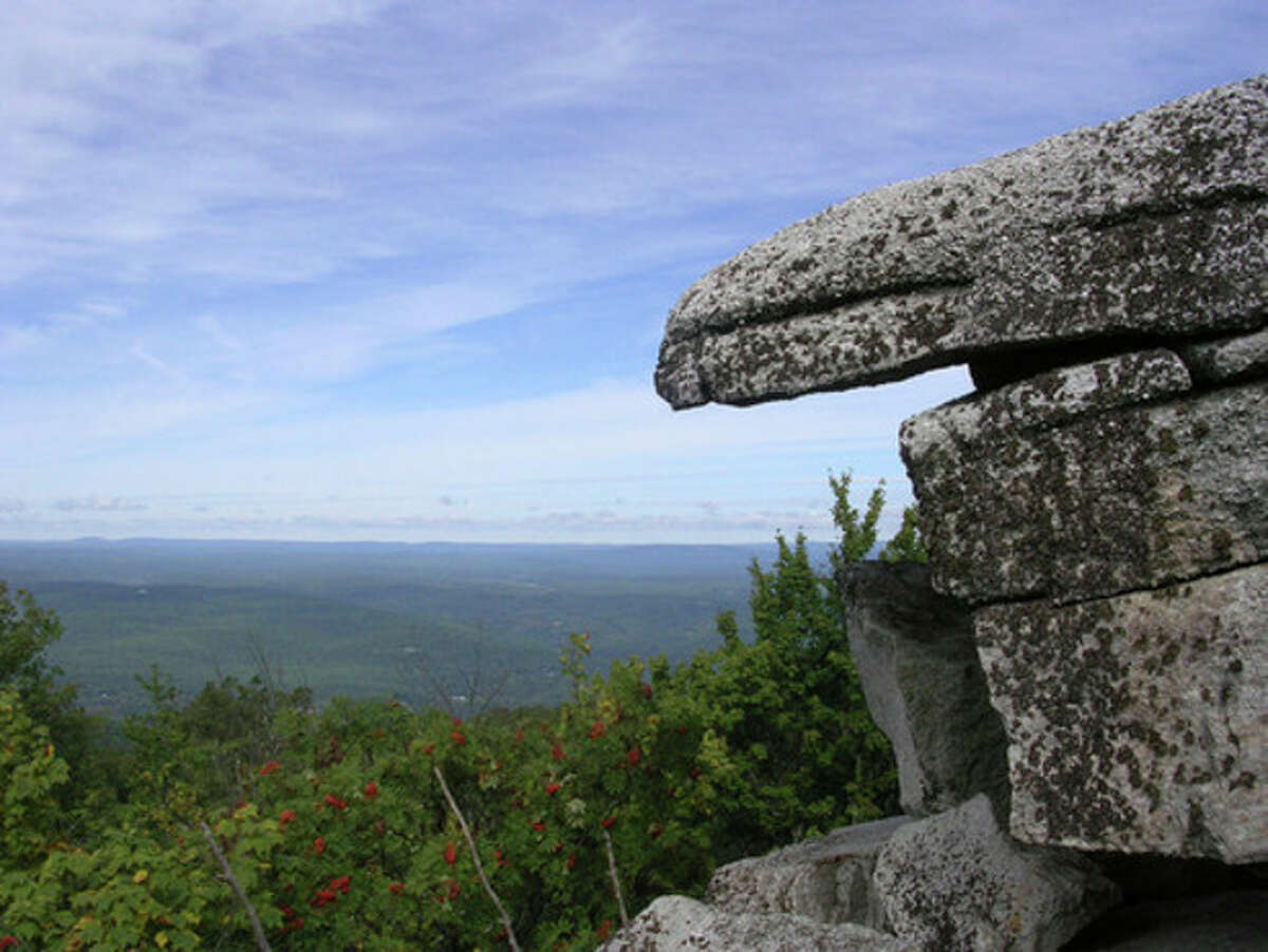 Photo by Rob McWilliams Indian's Rock at Sam's Point in the Gunks.
