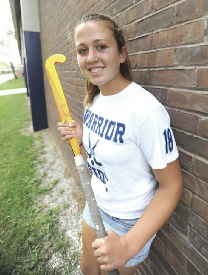 Hour photo/John NashWilton's Madison Hendry has been named The Hour's All-Area MVP for field hockey for 2012. The junior midfielder led the Warriors to their second straight state championship.