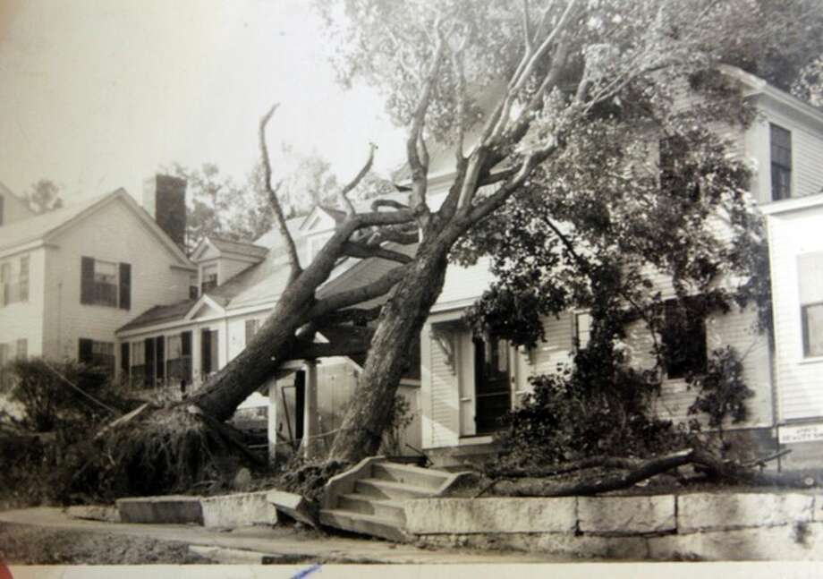 In this photo from the collection of the Monadnock Center for History and Culture, shows storm damage in Peterborough, N.H. during the Great New England Hurricane of 1938. Sept. 21, 1938, Seventy-five years ago the hurricane was estimated to have killed between 682 and 800. It remains the most powerful and deadliest hurricane in recent New England history. (AP Photo/Monadnock Center for History and Culture) / Monadnock Center for History and Culture