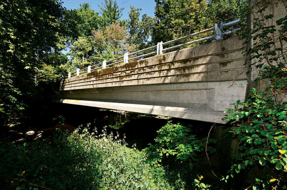The bridge spanning the Silvermine River on James St. Norwalk's bridge replacement/rehabilitation program largely complete with15 bridges completed, and three more remaining. Hour photo / Erik Trautmann