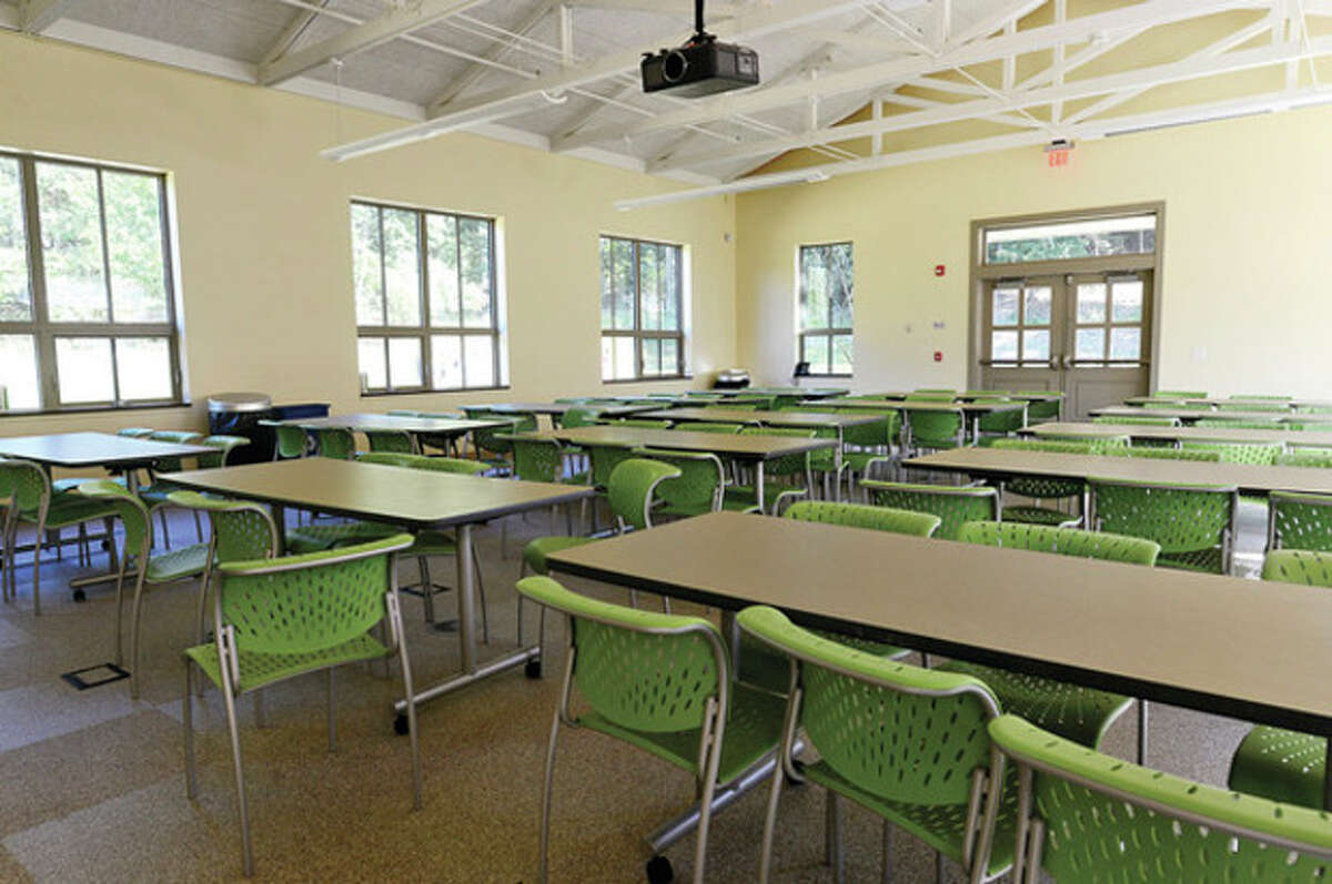 Hour photo / Erik Trautmann The new all purpose room at Winston Prep which is set to hold its grand opening Saturday.
