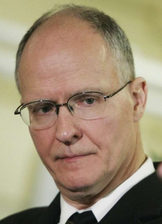 FILE - This May 6, 2008, file photo, shows then-New Orleans Recovery School District superintendent Paul Vallas during a news conference in New Orleans. Vallas became superintendent in January 2012 of the Bridgeport, Conn., school system. But Vallas isnÕt certified by the state to be a school superintendent, and a lawsuit challenging his credentials is scheduled to go before the state Supreme Court Monday, Sept. 23, 2013. (AP Photo/Bill Haber, File)
