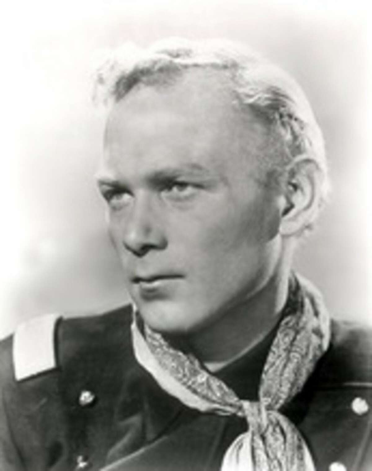 """This 1940s publicity photo released by SCVHistory.com (Santa Clarita Valley Historical Society) shows actor, Harry Carey, Jr., in character from the film, """"She Wore A Yellow Ribbon."""" Carey Jr. starred in such Westerns as """"3 Godfathers"""" and """"Wagon Master."""" His daughter, Melinda Carey, said he died Thursday, Dec. 27, 2012, of natural causes surrounded by friends and family at a hospice facility in Santa Barbara, Calif. (AP Photo/SCVHistory.com)"""