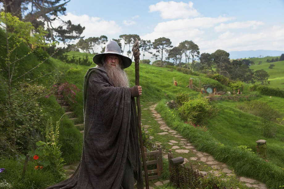 """FILE - This undated publicity film image released by Warner Bros., shows Ian McKellen as Gandalf in a scene from the fantasy adventure """"The Hobbit: An Unexpected Journey."""" (AP Photo/Warner Bros., James Fisher, File) / Warner Bros."""