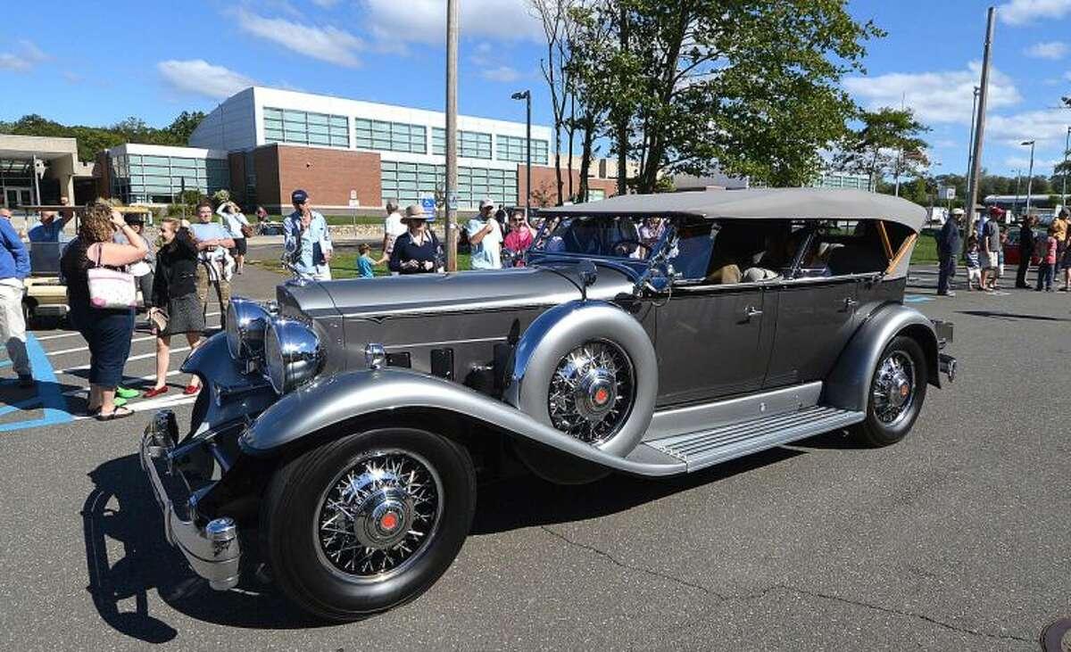 Hour Photo/Alex von Kleydorff 2013 Alden Sherman Classic Car Show to benefit the Weston Senior Center.