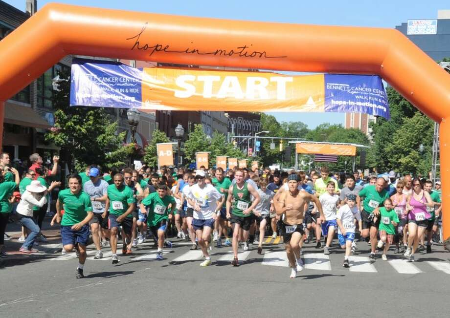 The Hope In Motion Walk, Run, & Ride to benefit the Bennett Cancer Center at Columbus Park in Stamford