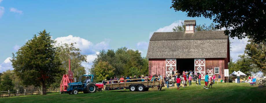 Hayride and barn