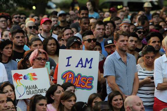 Many Houstonians attended vigil Wednesday for the victims who were killed in Sunday's Pulse nightclub shooting in Orlando, Fla.. Mayor Sylvester Turner was joined by the LGBT community, rother elected officials, the NAACP, LULAC and others.