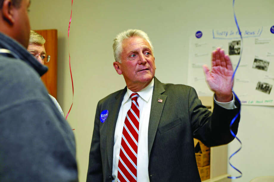 Hour Photo / Danielle CallowayDemocratic Mayoral Candidate Harry W. Rilling shows guests around at the grand opening of his new campaign headquarters at 25 Van Zant Street in Norwalk Wednesday evening.