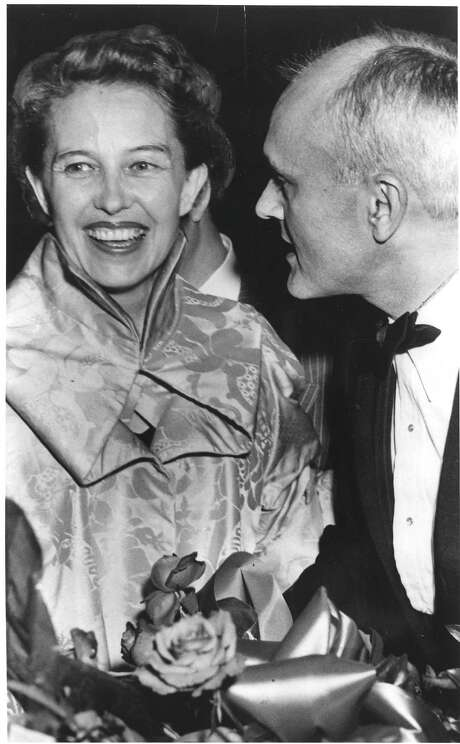Dominique de Menil and architect Philip Johnson at a party in 1949. Photo: HP Staff / ONLINE_YES
