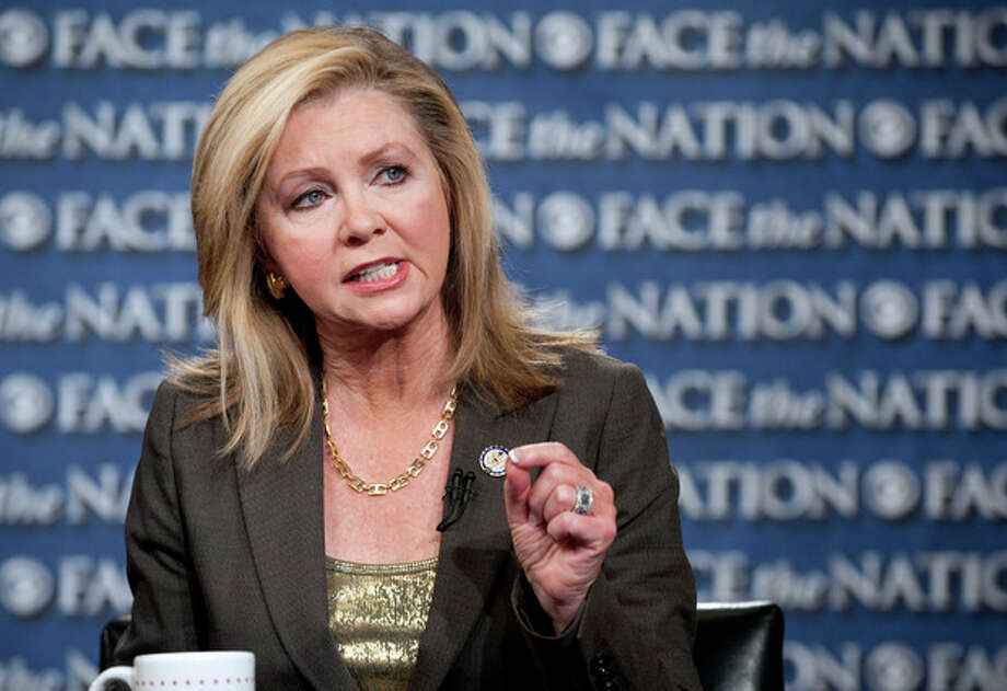 "This image provided by CBS News shows Rep. Marsha Blackburn, R-Tenn., speaking with Bob Schieffer on ""Face the Nation"" Sunday, Sept. 29, 2013, in Washington. The United States braced for a partial government shutdown Tuesday after the White House and congressional Democrats declared they would reject a bill approved by the Republican-led House to delay implementing President Barack Obama's health care reform. (AP Photo/CBS News, Chris Usher) / CBS"