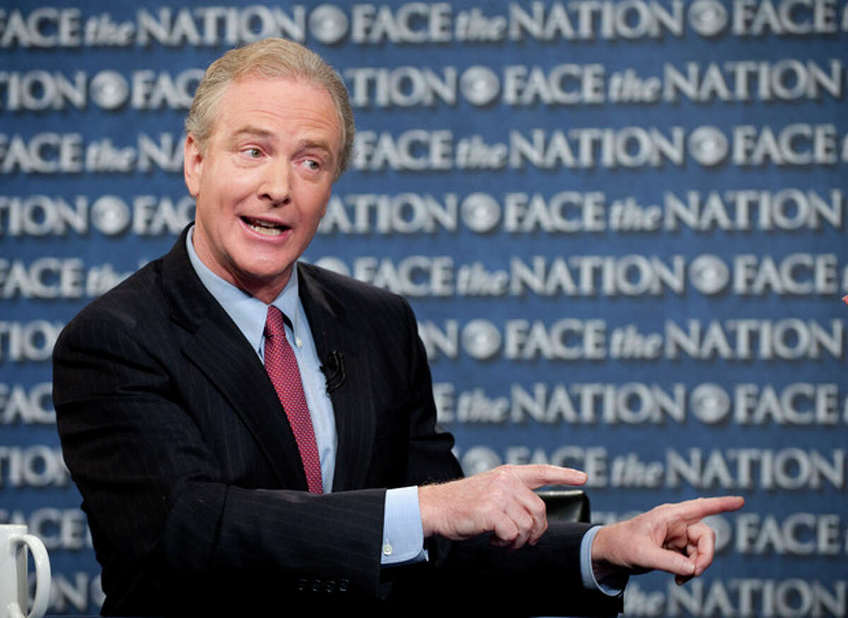 This image provided by CBS News shows Rep. Chris Van Hollen, D-Md., speaking with Bob Schieffer on