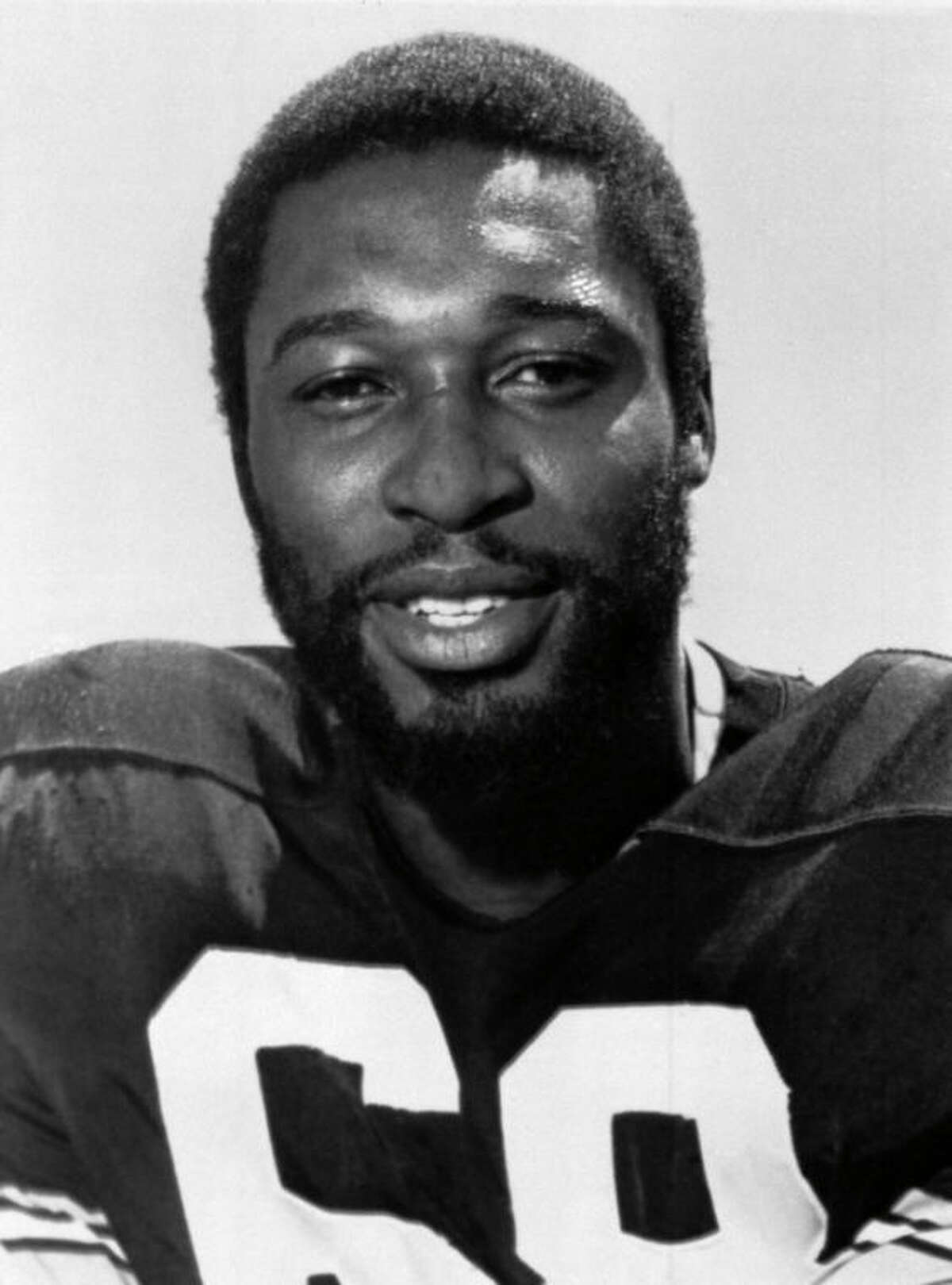 FILE - This is a 1977 file photo showing Pittsburgh Steelers football player L.C. Greenwood. Greenwood, who won four Super Bowls as a member of the