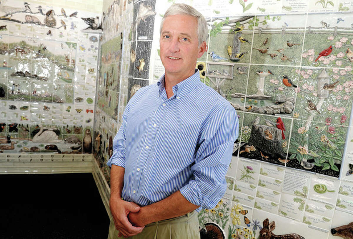 Hour photo/Matthew Vinci Anthony McDowell has been named the new executive director at Earthplace in Westport.
