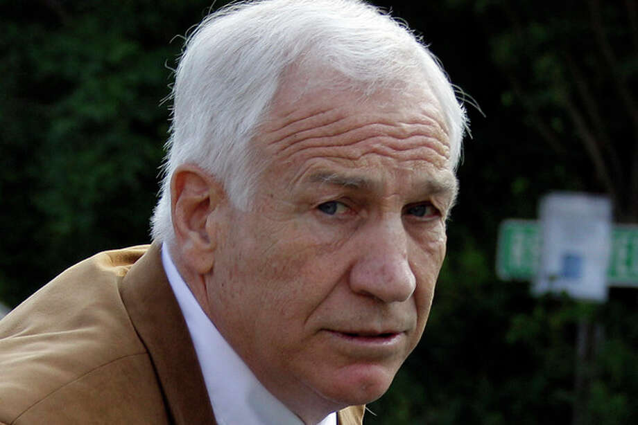 FILE - This June 22, 2012 file photo shows former Penn State assistant football coach Jerry Sandusky arriving at the Centre County Courthouse in Bellefonte, Pa. Sandusky should not get a new trial after being convicted of sexually abusing 10 boys, a Pennsylvania appeals court ruled Wednesday, Oct. 2, 2013. The decision by a three-judge Superior Court panel came barely two weeks after they heard oral arguments by Sandusky's lawyer and a state prosecutor. Sandusky, 69, is serving a 30- to 60-year prison sentence at a state prison in southwestern Pennsylvania. (AP Photo/Gene J. Puskar, File) / AP