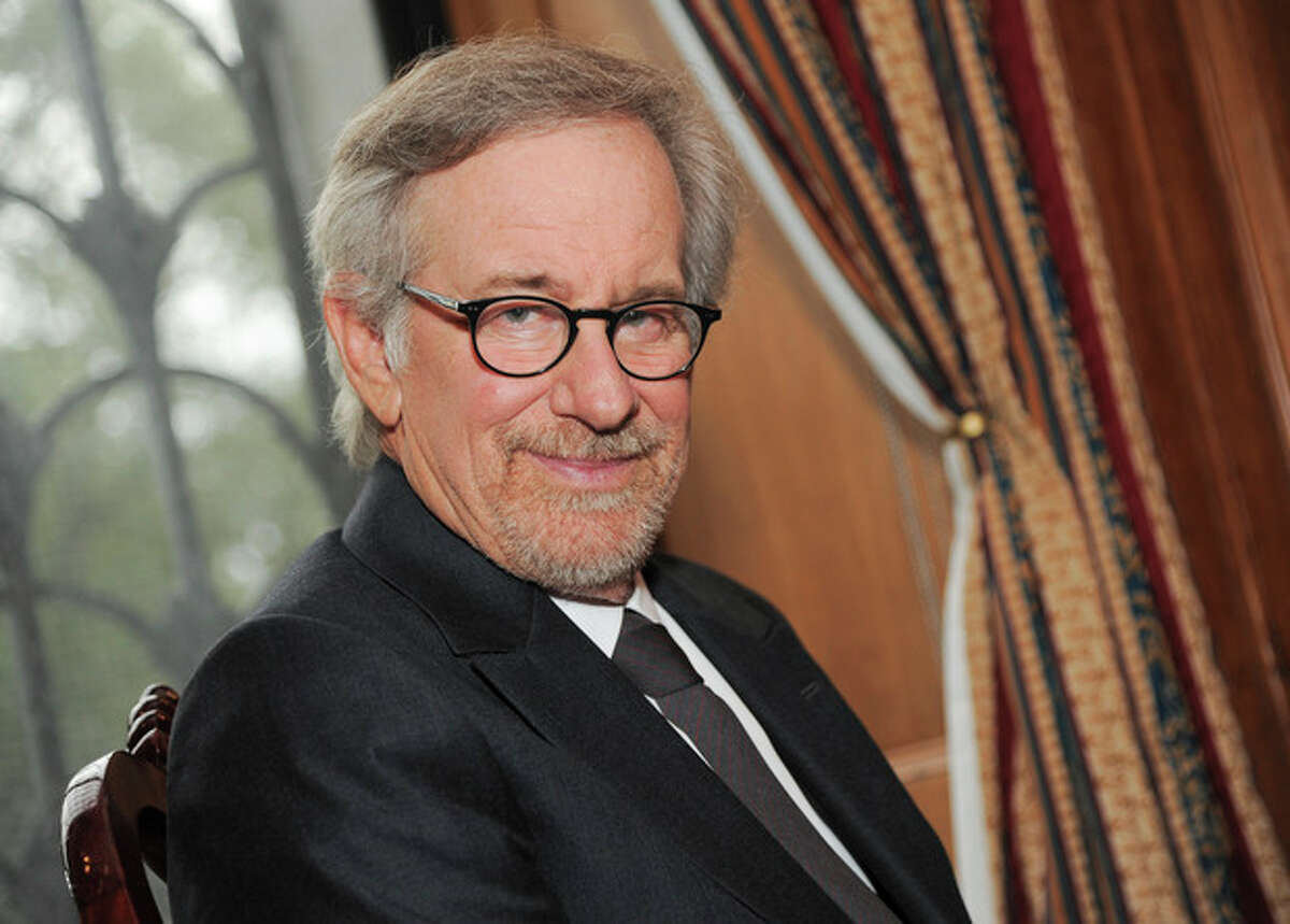 Filmmaker Steven Spielberg poses at the Museum of Natural History before the Ambassadors For Humanity Gala honoring George Clooney on Thursday, Oct. 3, 2013 in New York. (Photo by Evan Agostini/Invision/AP)
