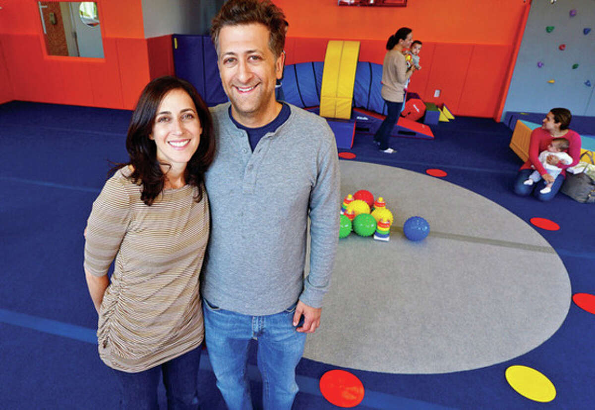 Valerie and Rob Gutman owners of Kidsville in Westport announce the opening of their new 4,800 square foot facility at 1572 Post Road East. Hour photo / Erik Trautmann