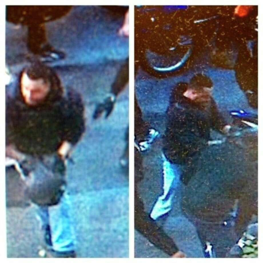 This combination of undated images released by the the New York City Police Department shows a man wanted for questioning in regards to an assault on Sept. 29, 2013 where dozens of bikers stopped a Range Rover SUV on a highway, attacked the vehicle, then chased the driver and pulled him from the car after he plowed over a motorcyclist while trying to escape. (AP Photo/New York City Police Department) / New York City Police Department