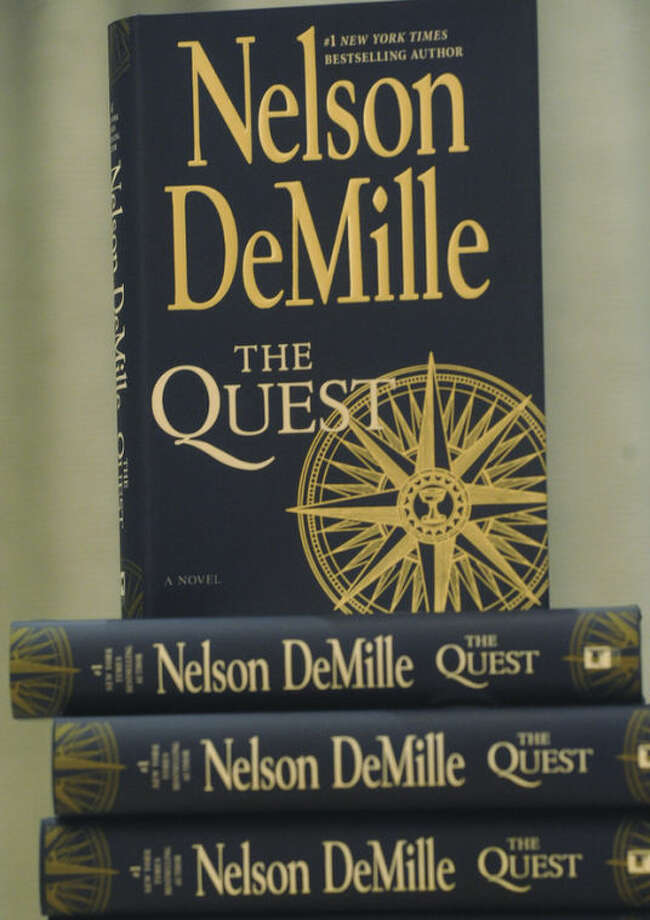 Number 1 New York Times bestselling author, Nelson DeMilles poke at the Wilton Library to discuss The Quest, a suspenseful, romantic heart-pounding adventure. photo/Matthew Vinci