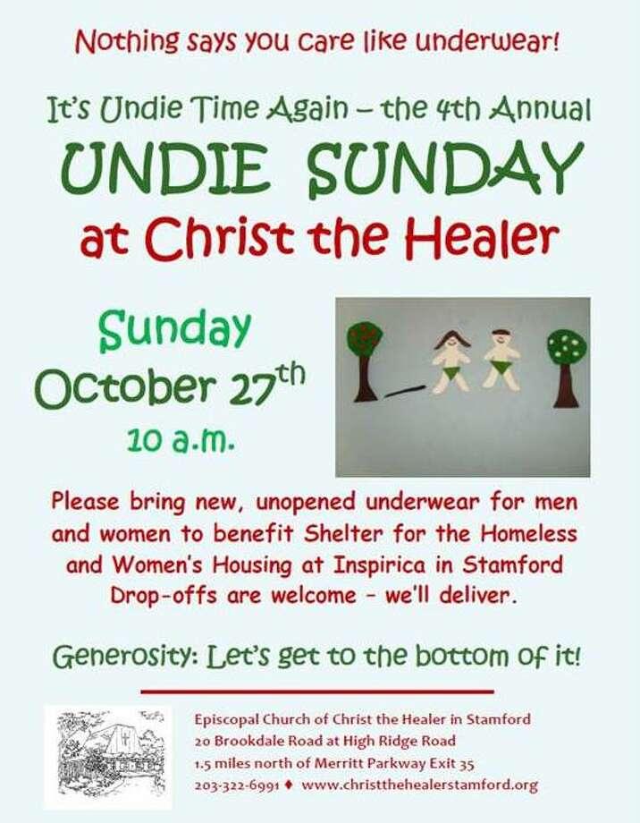 Flyer for Undie Sunday 10-27