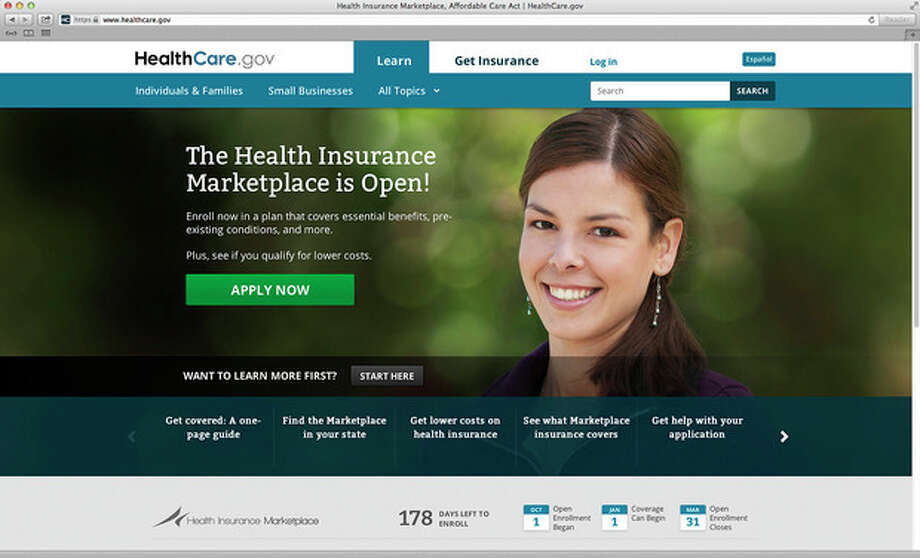 This photo provided by HHS shows the main landing web page for HealthCare.gov. The government's new health insurance marketplaces are drawing lots of rotten tomatoes in early reviews. But people are at least checking the things out. According to an AP-GfK poll, 7 percent of Americans report that somebody in their household has tried to sign up for insurance through the health care exchanges. While that's a small percentage, it could represent more than 20 million people. (AP Photo/HHS) / HHS