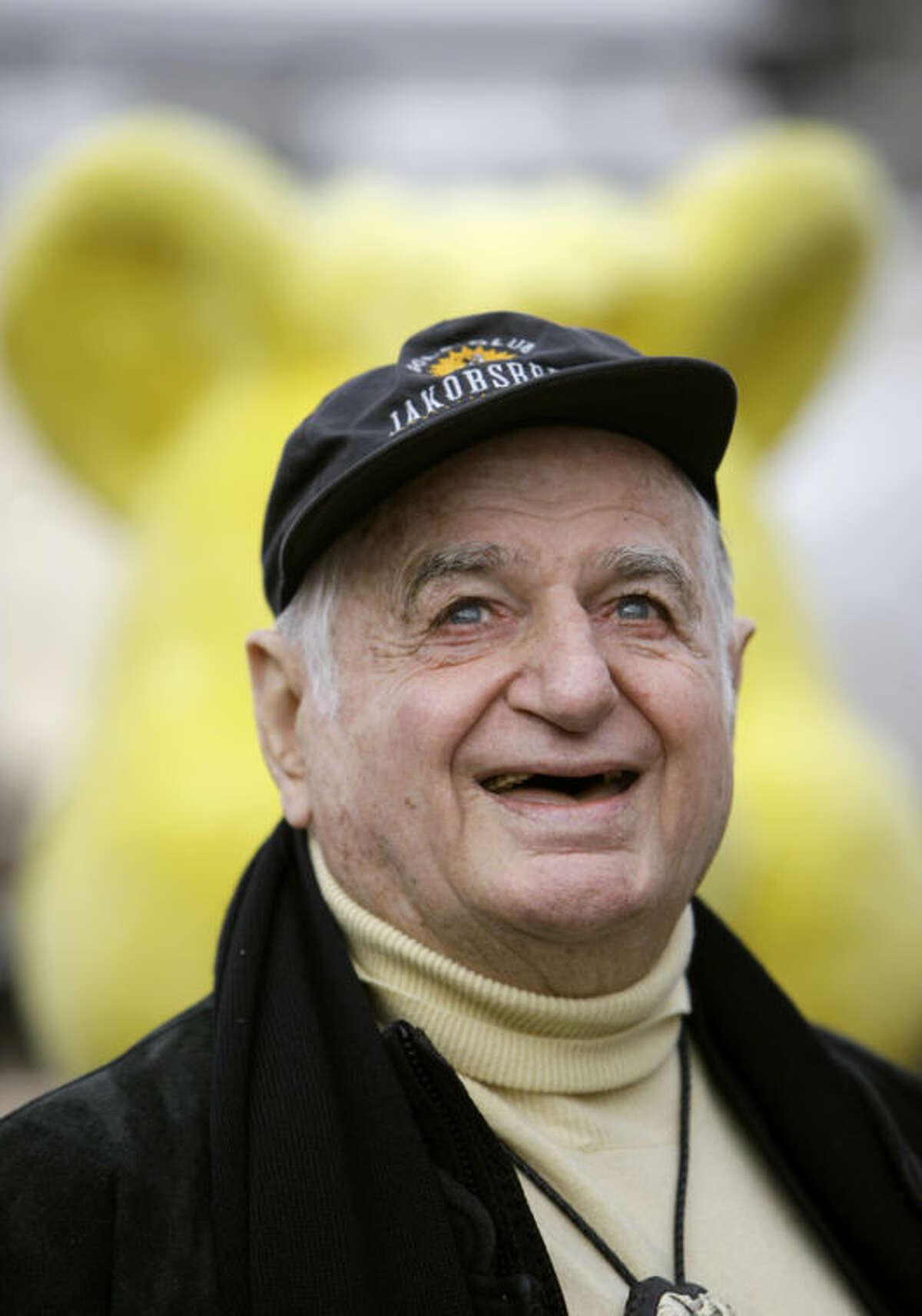 The Oct. 22, 2009 photo shows Hans Riegel, the longtime boss of German candy maker Haribo who took the gummi bear to international fame, in Bonn, western Germany. Haribo said in a statement that Riegel, the son of the company?'s founder, died of heart failure in Bonn on Tuesday. He was 90. (AP Photo/dpa, Rolf Vennenbernd)