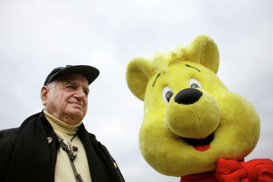 The Oct. 22, 2009 photo shows Hans Riegel, the longtime boss of German candy maker Haribo who took the gummi bear to international fame, in Bonn, western Germany. Haribo said in a statement that Riegel, the son of the company's founder, died of heart failure in Bonn on Tuesday. He was 90. (AP Photo/dpa, Rolf Vennenbernd) / dpa