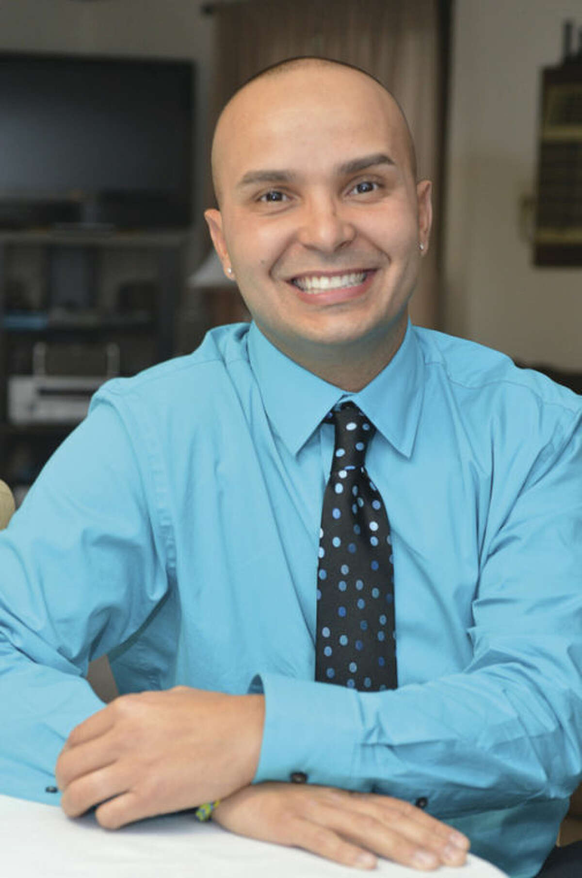 Hour Photo/Alex von Kleydorff Andres Roman is running for a seat on the Norwalk Board of Education.