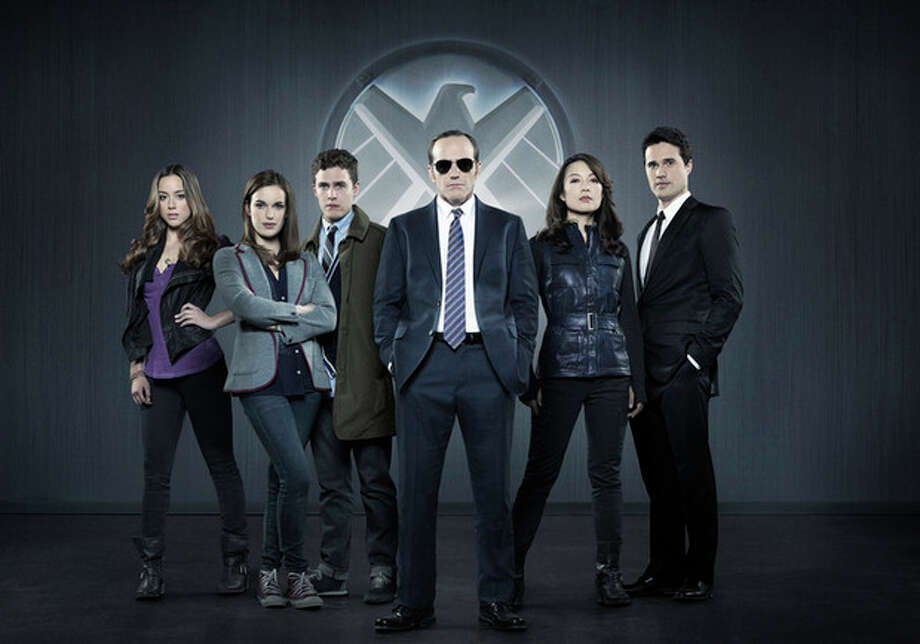 "This photo released by ABC shows from left, Chloe Bennet, Elizabeth Henstridge, Iain De Caestecker, Clark Gregg, Ming-Na Wen, and Brett Dalton in Marvel's ""Agents of S.H.I.E.L.D,"" produced by ABC Studios and Marvel Television. Gregg as Agent Phil Coulson has broken out as the star of ""Marvel's Agents of S.H.I.E.L.D.,"" the new ABC sci-fi thriller (airing Tuesdays at 8 p.m. EDT), which finds Coulson leading a hand-picked band of agents on their extra-special missions. (AP Photo/ABC, Bob D'Amico) / ABC"