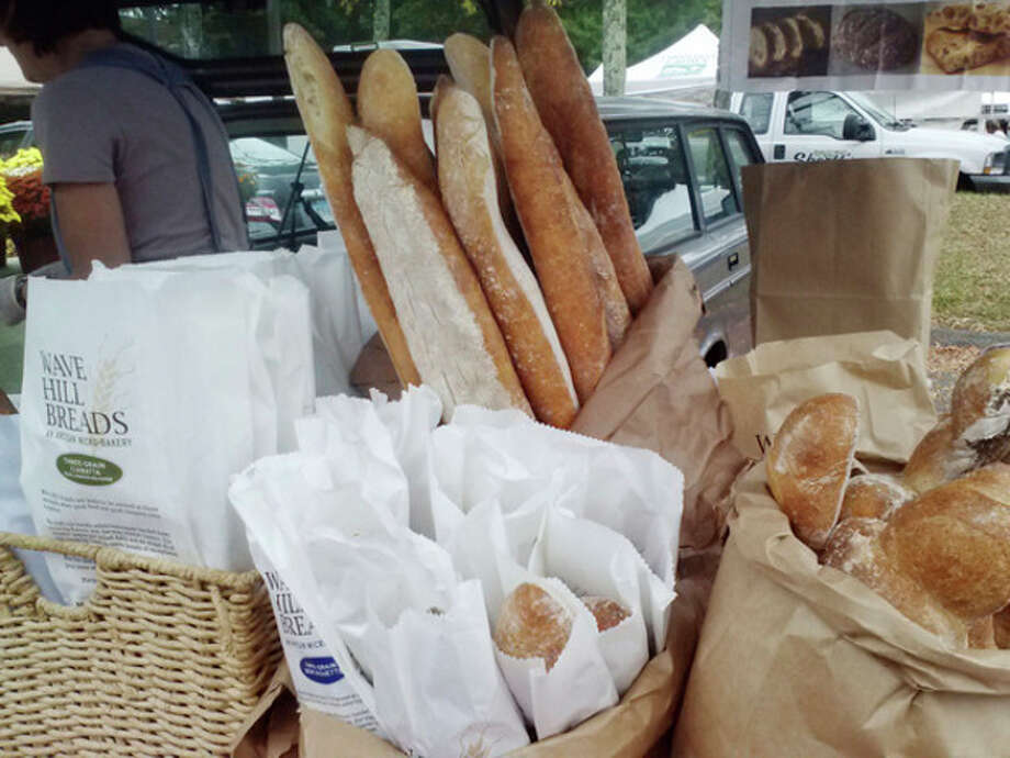 Photo by Frank WhitmanWave Hill Breads at New Canaan farmer's market.