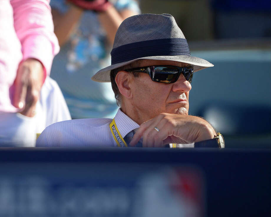 Joe Torre watches play during the seventh inning of Game 5 of the National League baseball championship series between the St. Louis Cardinals and the Los Angeles Dodgers, Wednesday, Oct. 16, 2013, in Los Angeles. (AP Photo/Mark J. Terrill) / AP