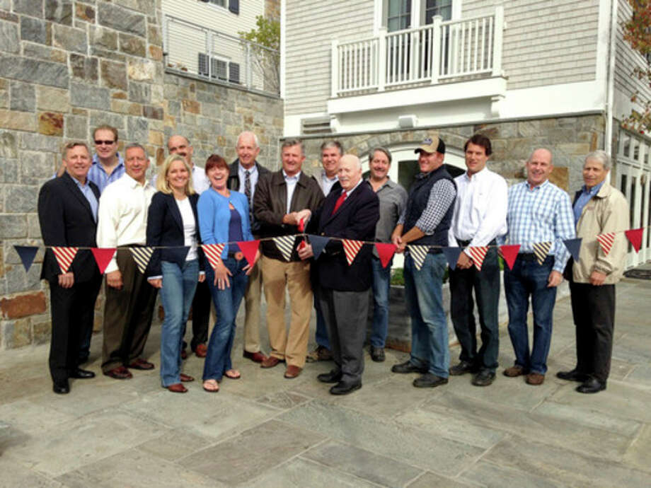 Contributed photoRibbon cutting ceremony for unveiling of Phase II of Saugatuck Center in Westport this week.