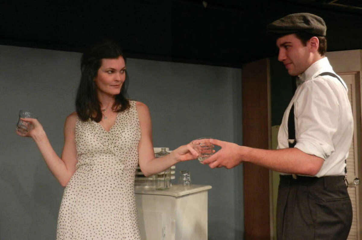 """Bennett Leeds and Linda Moran Branch rehearse their scene in """"A Streetcar Named Desire,"""" playing in Curtain Call's Dressing Room Theatre, from Oct. 18 through Nov. 9."""