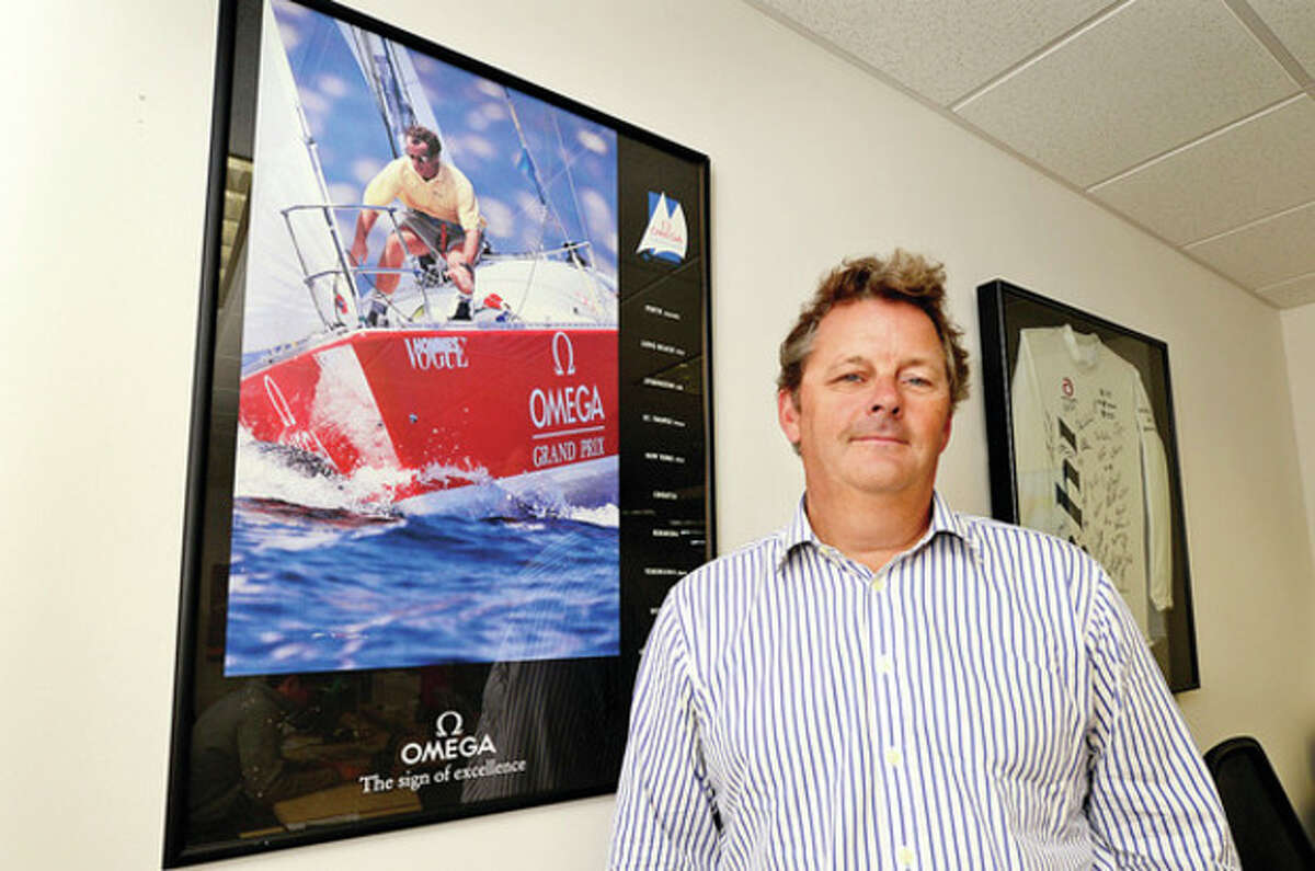 Hour photo / Erik Trautmann Scott MacLeod, managing director at WSM Stamford, stands in his office in Stamford.