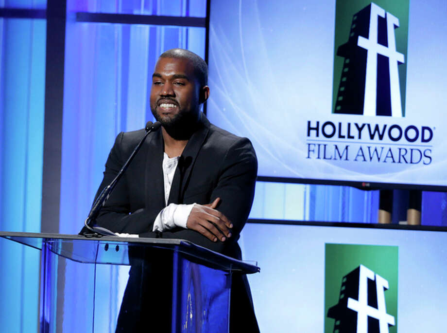 Kanye West speaks on stage at the 17th Annual Hollywood Film Awards Gala at the Beverly Hilton Hotel on Monday, Oct. 21, 2013, in Beverly Hills, Calif. (Photo by Todd Williamson/Invision/AP) / Invision