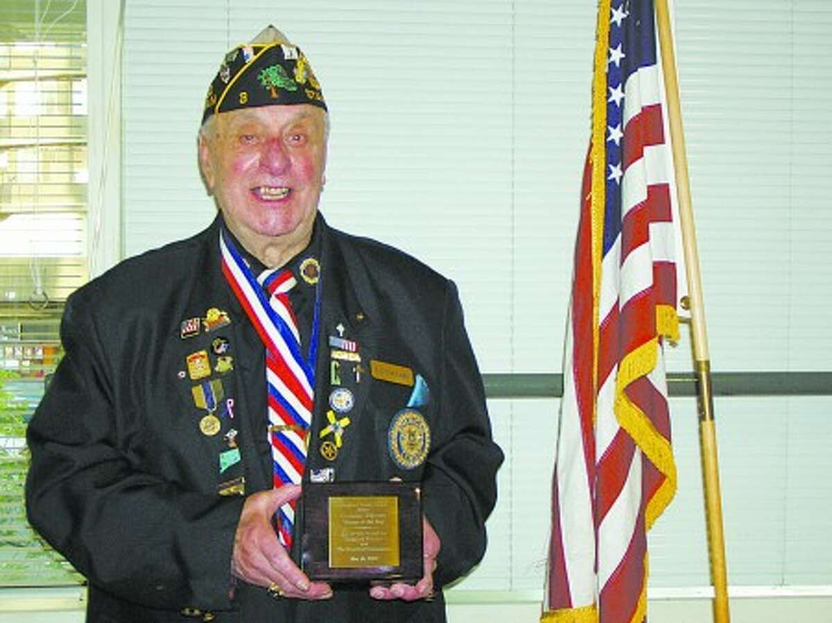 Carmine Vaccaro, a Stamford resident and Navy veteran, was named as the city''s Veteran of the Year on Monday at the Stamford Senior Center. Contributed Photo