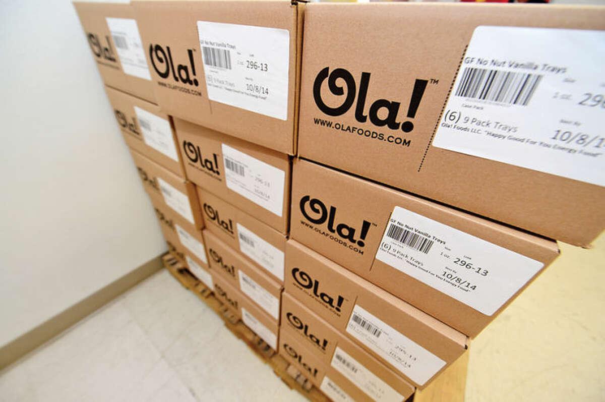 Hour photo / Erik Trautmann Ola! granola manufactures their product at a facility in Norwalk.