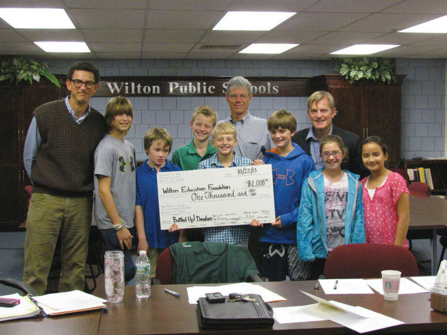 Local students recently participated in the Bottled Up! can and bottle drive, which raised $1,000 for the Wilton Education Foundation.