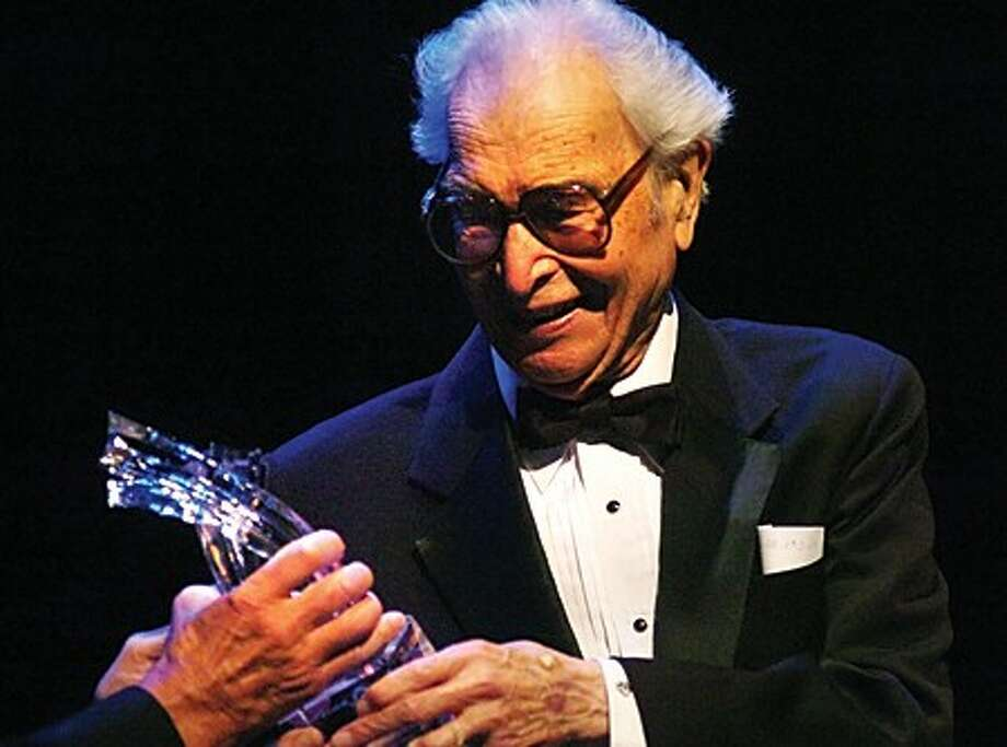 Legendary jazz pianist Dave Brubeck is awarded the 1st annual Stamford Center for the Arts Legacy Award on Thursday at the Palace Theater Thursday. hour photo/matthew vinci