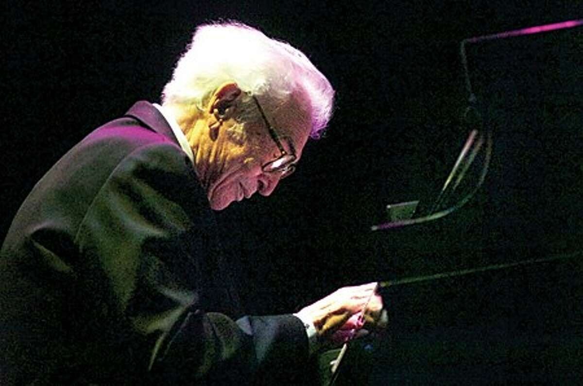 Jazz legend and Wilton resident, Dave Brubeck performs at the Stamford Center of the Arts Thursday and also received the 1st annual Stamford Center of the Arts Legacy Award. hour photo/matthew vinci
