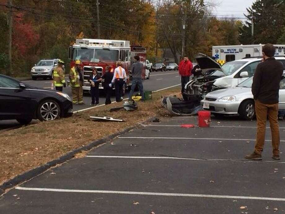 Accident snarls traffic on Danbury Road