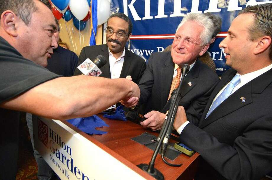 Hour Photo/Alex von Kleydorff. Election night celebrations at The Hilton Garden Inn for Harry Rilling, the new Mayor elect of the city of Norwalk