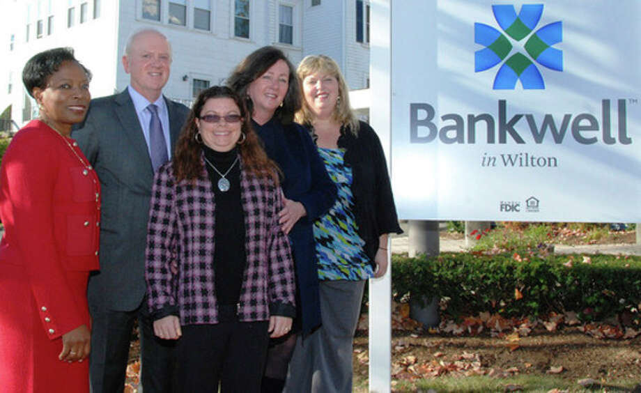 Contributed photoBankwell officials celebrate the opening the Wilton office.