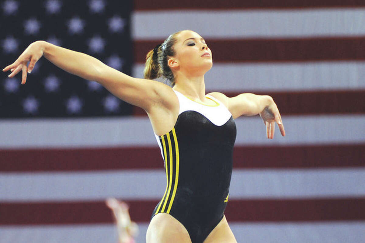 Hour photo/John Nash McKayla Maroney of the All-Olympia gymnastic club in Long Beach, Calif., will be one of better known gymnasts competing at the 2013 P&G Gymnastics Championships in Hartford this weekend.
